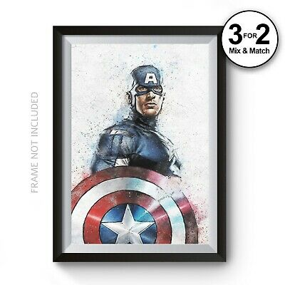 CAPTAIN AMERICA SUPER HERO A3 POSTER PRINT YF1113