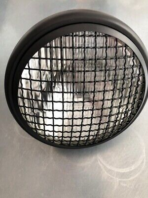 Mesh Front Motorcycle Motorbike Headlight Matt Black Steel-small dent on shell