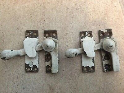 A Pair Of Brass Vintage Sash Window Catches