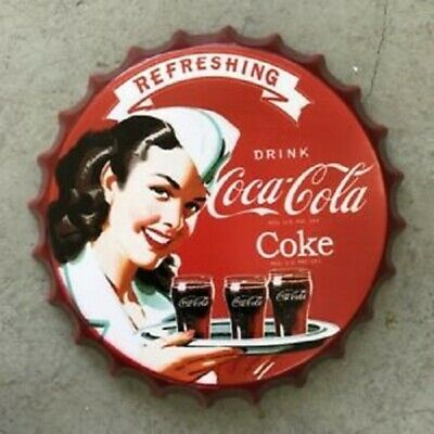 Hydra Glide Vintage Metal Bottle Top Sign Tin Wall Hanging Plaque
