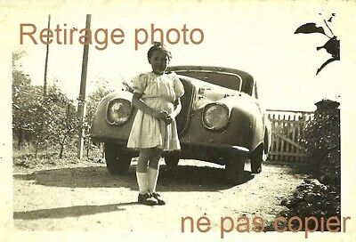 Retirage Photo : COPIE fillette avec Panhard & Levassor Dynamic 130 140 160