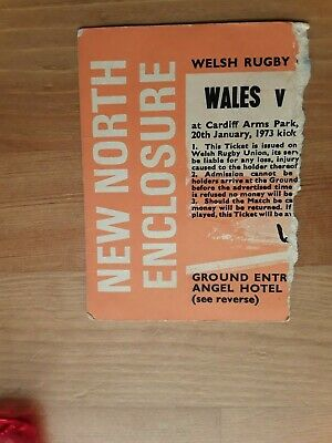 RUGBY UNION MATCH  TICKET - WALES  v ENGLAND Five Nations 1973
