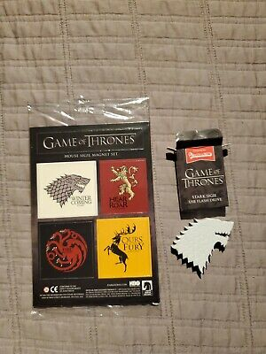 Game Of Thrones House Sigil Magnet Set USB flash drive stark lootcrate HBO
