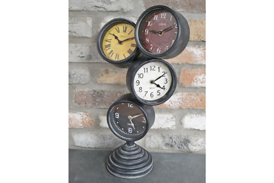 Industrial CLOCK Desk Bedside Table Decoration Antique 4 Timers Numeral Analogue