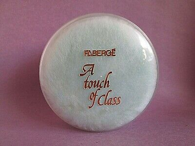 A Touch of Class by Faberge Vintage Perfumed Bath Body Powder & Puff 3 oz Sealed