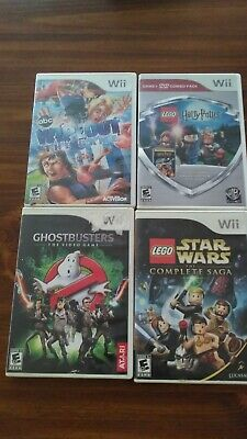 Nintendo Wii 4 Game Lot - Lego Harry Potter, Star Wars, Wipeout, Ghostbusters