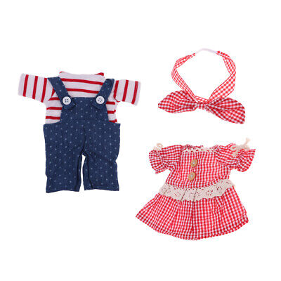 2 Set Girl Doll Summer Outfits for Mellchan Baby Dolls Clothing Dress up