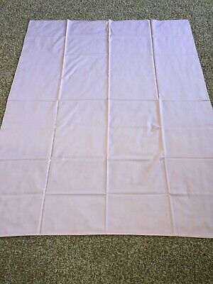 Vintage California Hand Prints Pink Tablecloth USA New 65 X 52