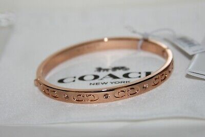 bcce7c919f NWT COACH GOLD Hinged Bangle Bracelet with gift bag F54565 - $39.98 ...