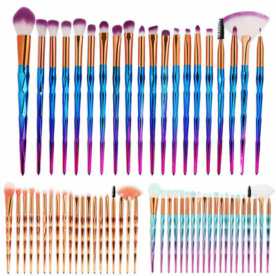 2Pcs Unicorn Makeup Brushes Set Foundation Blush Face Powder Eye Shadow Brush
