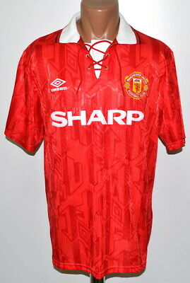 Manchester United 1992/1993/1994 Home Football Shirt Jersey Umbro Size L Adult