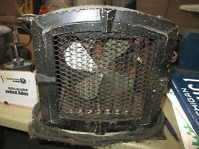Antique Vintage Heat And Fan Art Deco Metal Heater Old Space Heater