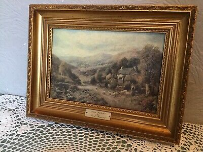 Beautiful Vintage Gold/Gilt Antique Style Picture Frame with Oil Painting #5681
