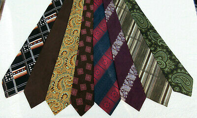 Job Lot Wholesale Bulk 8 Vintage Mix Wide Polyester Neck Tie