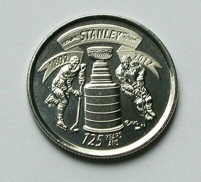 1892-2017 CANADA Coin - 25 Cents - AU++ lustre - Stanley Cup Trophy (NHL hockey)