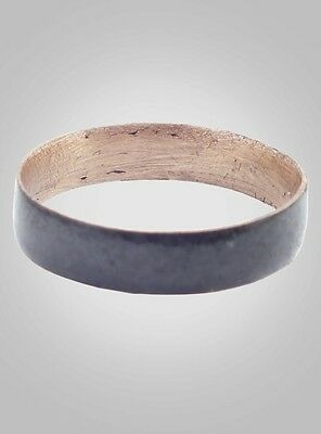 Ancient Viking Natural Bronze Wedding Band Jewelry C.866-1067A.D. Size 9 3/4