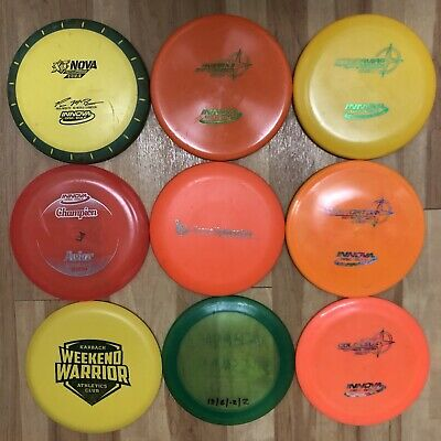 Innova Disc Golf Lot Used And New Aviar AviarX3 Wombat3 Collossus Gator