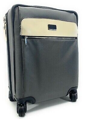 Tumi Continental Carry-on Suitcase Larkin Expandable 4- Wheel Grey