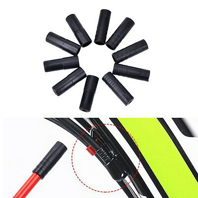 100X 4/5mm Bike Plastic Speed Chaning Brake Cable Wire Tips Caps Crimps、 hf