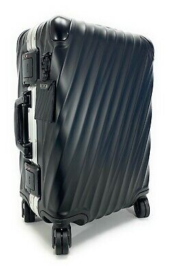 Tumi 19 Degree International Carry-on Aluminum Suitcase Matte Black with Silver