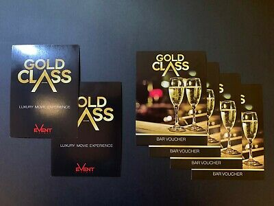 Gold Class Movie Package - 2 (two) movie tickets plus $40 bar voucher. RRP $124