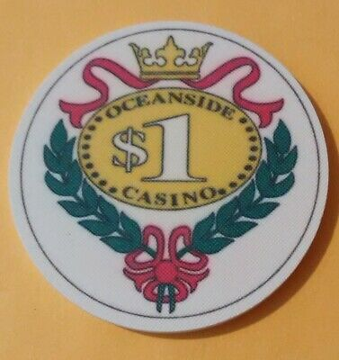 Oceanside Casino Russia? $1.00 Gaming Chip Chip Great For Any Collection!