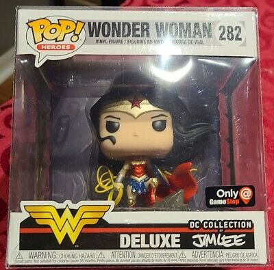 Funko Pop! 228 Wonder Woman Deluxe DC Collection by Jim Lee NM+ GameStop on hand