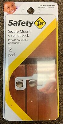 Safety First Secure Mount Cabinet Lock Child Safety Easy to Install 2 Count Pack