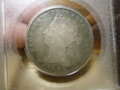 CANADA 1872-H Inverted A / V FIFTY CENTS 50c HALF DOLLAR SILVER COIN