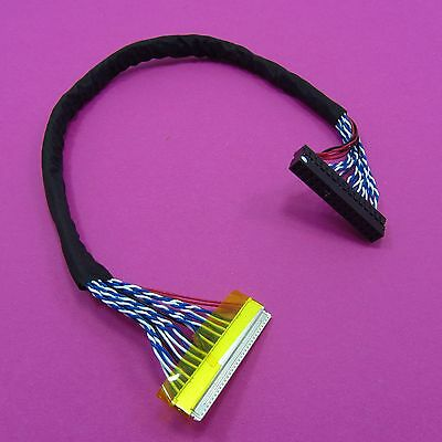 8 bit FIX-30P-S8 Double 30 Pin For LVDS LCD Driver Board Screen Cable