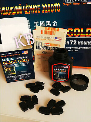 OTC U.S.A black gold 16 pill Sexual Wellness male enlargement growth function