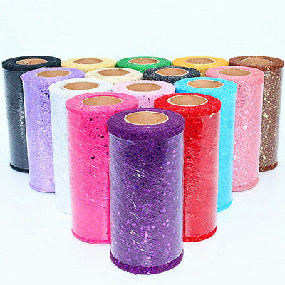 Sparkle Glitter Sequin TUTU Tulle Net Mesh Fabric Roll Ribbon 22 Metres Craft