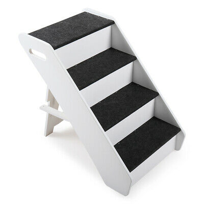 Portable Dog Steps 4 Steps for High Bed Pet Stairs Small Dogs Cats Ramp Ladder