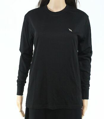 Back on Track Womens Black Size Small S Crewneck Stretch Knit Top $45 295