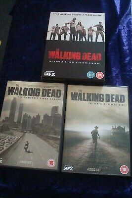 Dvd.the Walking Dead.the Complete First And Second Seasons.uk Region 2 Dvd.set.