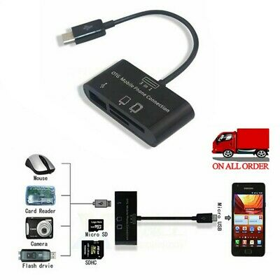 3in1 Card Reader SD-card/TF/SDHC OTG for SAMSUNG Android Phone Micro USB 2.0