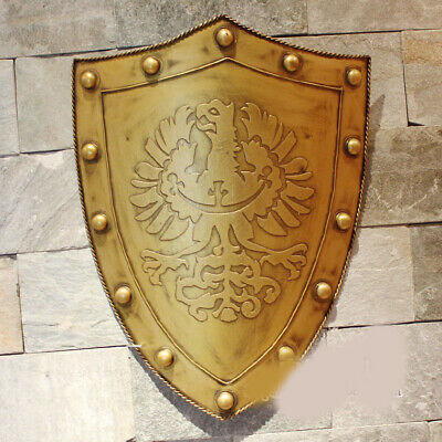 D2 Europe Battle Medieval Shield Antique Knight Armour Wall Home Decor Full Size