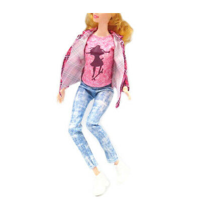 1set doll clothes outfit casual pants+coat+shirt for  doll accessories BSC_WK