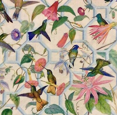 3 Paper Napkins for Decoupage/Parties/Weddings - Hummingbirds