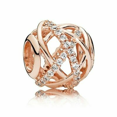 NEW Pandora Rose Gold Galaxy Openwork Charm Bead 781388CZ
