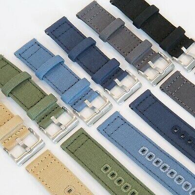 Canvas Premium Watch Strap Band Quick Release 20mm 22mm