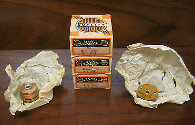 Lot of 5 Vintage NOS Miller 75 MH 100 MA RF Chokes, Radio Part 959