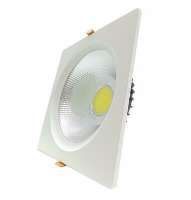 Downlight Spot LED COB Carré 40W 235mm - Blanc Neutre 4000K - 5500K