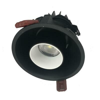 Spot LED COB Orientable Dimmable Rond NOIR/BLANC 9W 120° - Blanc Neutre 4000K -