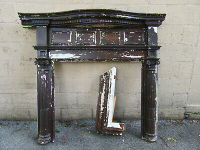 ~ Ornate Antique Fireplace Mantel ~ 54.5 X 52 ~ Architectural Salvage