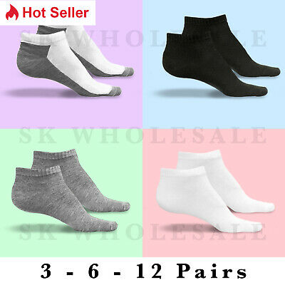 12 Pairs Lot Womens Ankle Spandex Low Cut Socks Gray Colors #70023Out Size 9-11