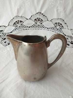 Milk Jug Vintage Silver Plated Milk Jug Dairy Milk Pot Jug Creamer Milk can
