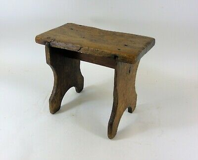 18th Century Oak & Elm Child's Boarded Stool