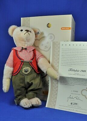 Steiff Teddy Bär / Teddy Bear Replica 1908, rose, 408557, 2007, KF / IDs, limit.