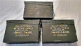 6 pack - 30 Cal Ammo Can Army Military M19A1 Metal Storage Box 7.62 MM